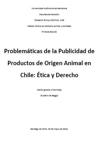 Problemáticas de la Publicidad de Productos de Origen Animal en Chile: Ética y Derecho